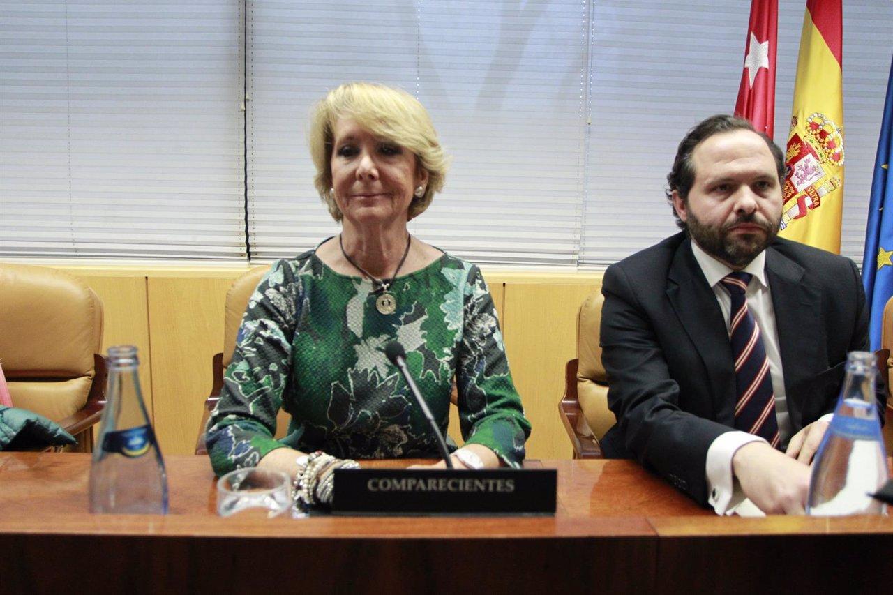 Esperanza Aguirre en la comisión de investigación sobre corrupción