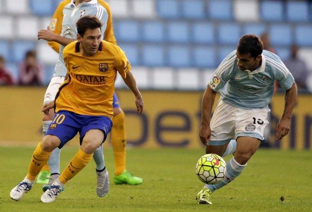 Barcelona Leo Messi Celta Vigo Jonny Castro