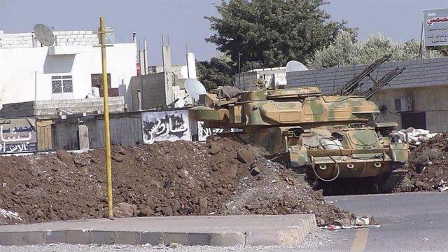 Recurso De Un Tanque En La Ciudad Siria De Homs