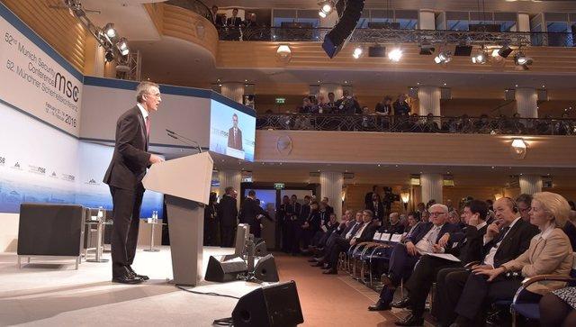 Jens Stoltenberg en la Conferencia de Seguridad de Múnich 2016