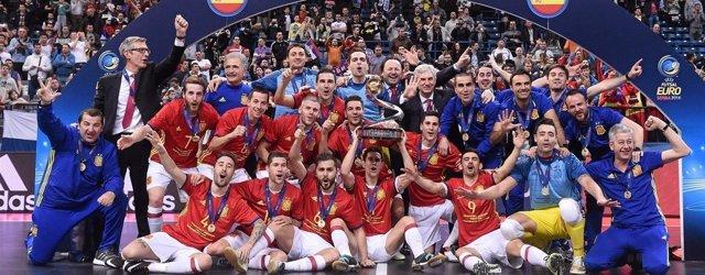 La selección española de fútbol sala, campeona de Europa por séptima vez