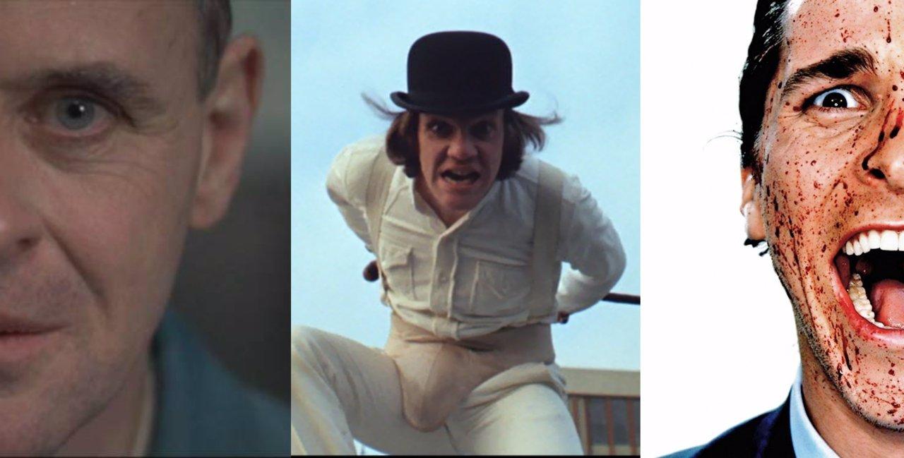 Collage con psicópatas de cine