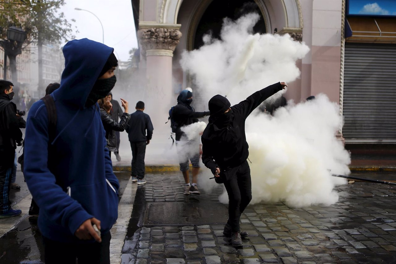 Protestas en Chile contra Bachelet