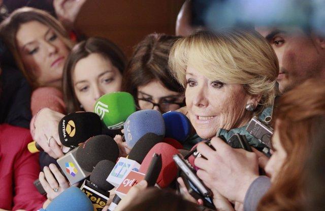 Esperanza Aguirre acude a la comisión sobre corrupción de la Asamblea de Madrid