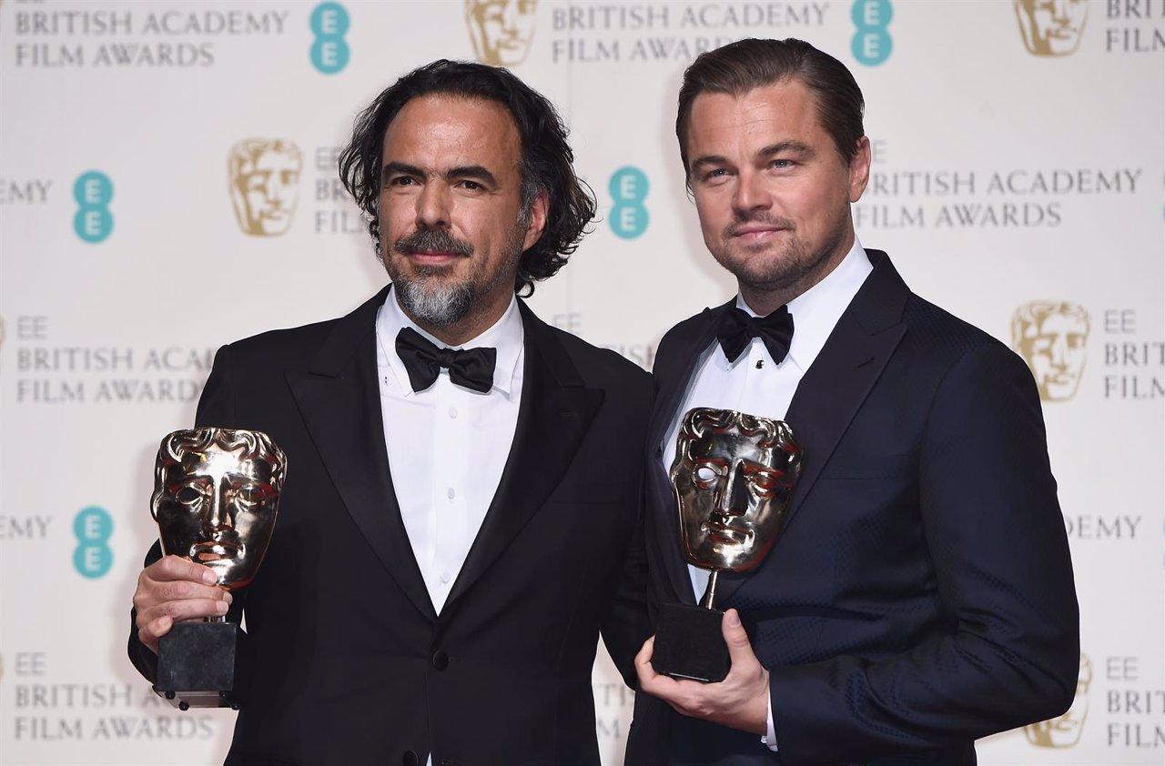 Leonardo DiCaprio y González Iñárritu en los BAFTA