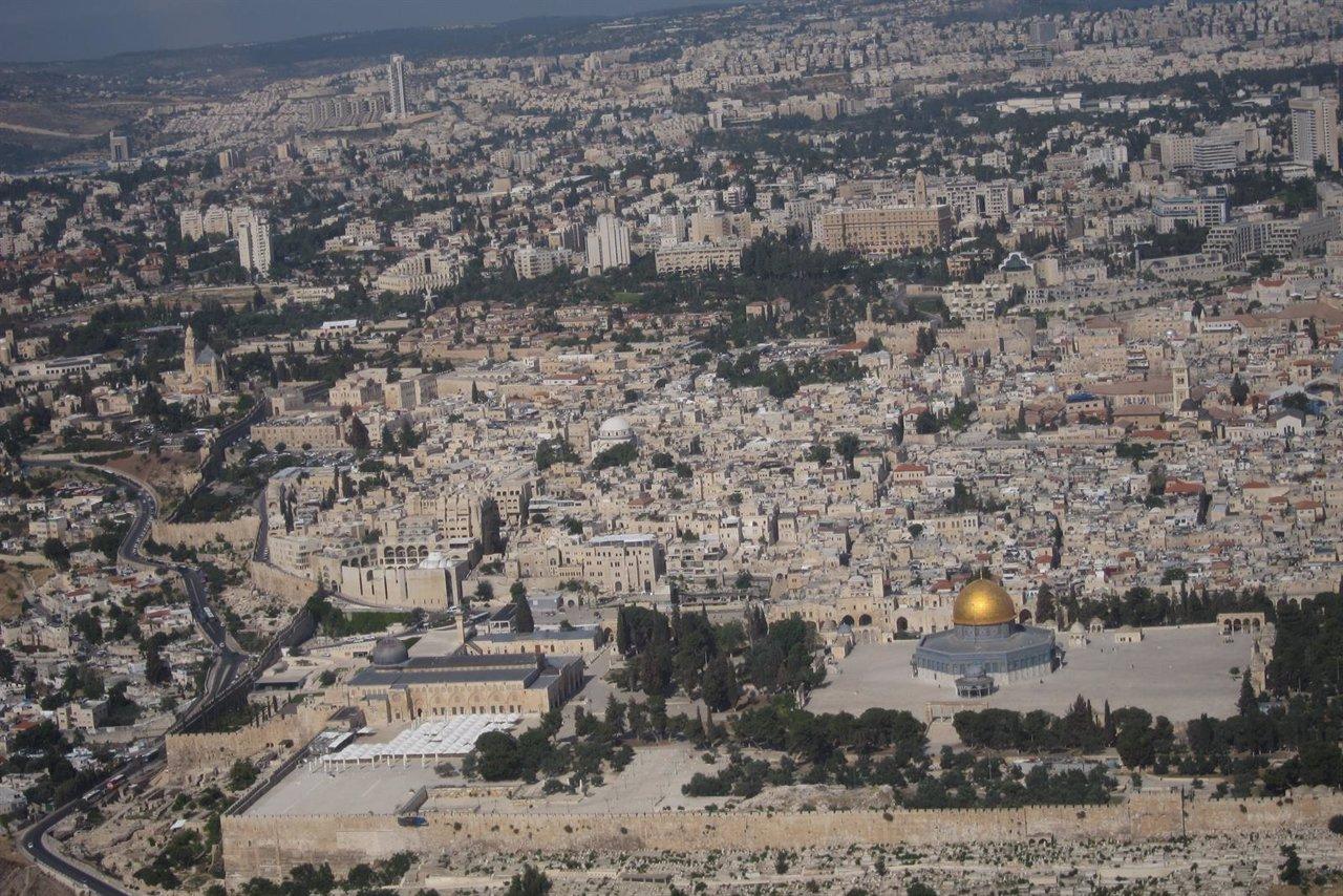 Vista aérea de la ciudad de Jerusalén
