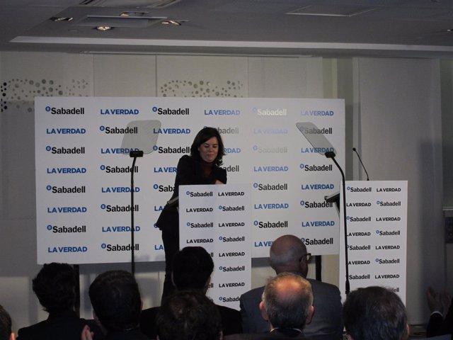 Soraya Sáenz de Santamaría durante su intervención