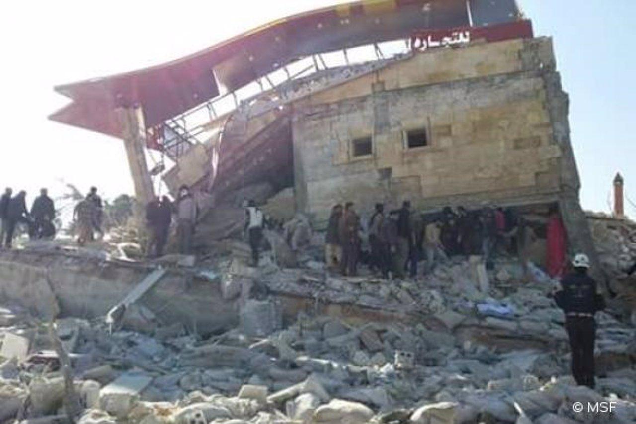 Hospital de MSF en Idlib destruido por un bombardeo