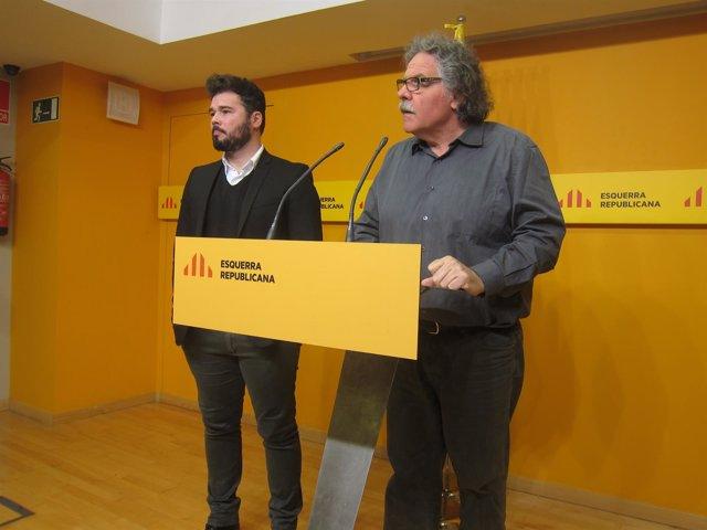 Gabriel Rufián, Joan Tardà (ERC)