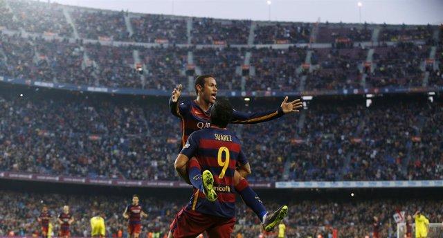 Barcelona Luis Suárez Neymar Villarreal