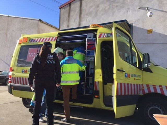 Atención del SUMMA al herido por accidente laboral