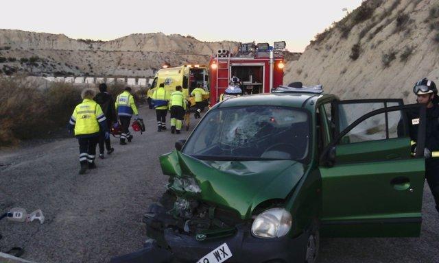 Accidente de tráfico en Albudeite