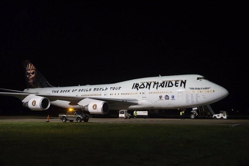 Así es el Boeing 747-400 Jumbo con el que Iron Maiden volarán durante su gira