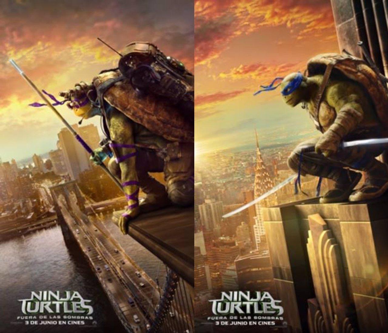 Pósters en movimiento de las Tortugas ninja