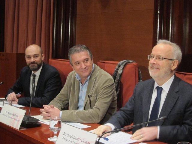 S.Gordillo (Catalunya Ràdio), E.Sallent (TV3) y B.Duart (CCMA)