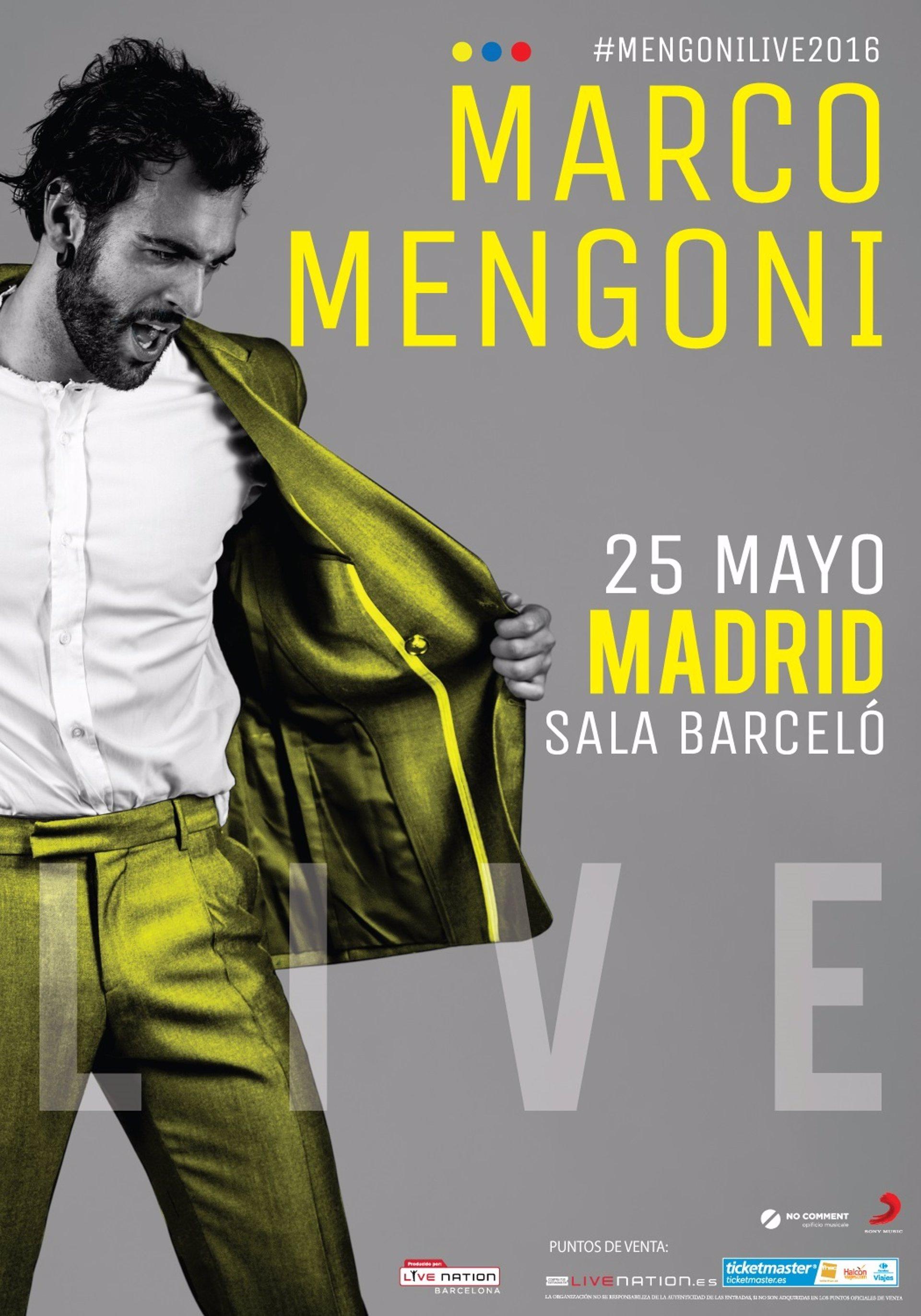 Marco Mengoni dará el 25 de mayo en la Sala Barceló su único ...