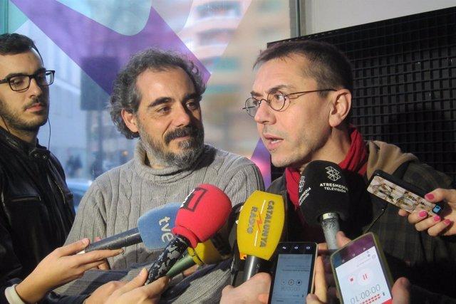 Raimundo Viejo (EnComúPodem) y Juan Carlos Monedero (Podemos)
