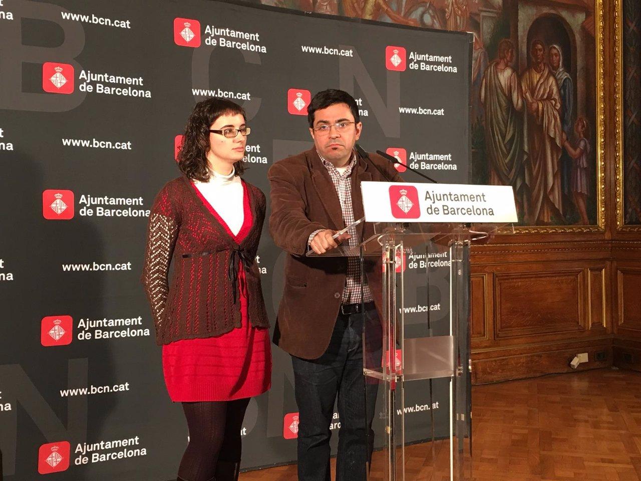 Gerardo Pisarello y Mercedes Vidal (Ayuntamiento de Barcelona)