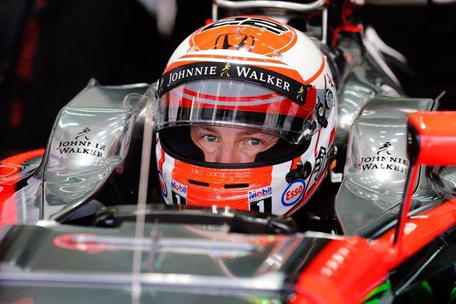 Jenson Button en competición con McLaren