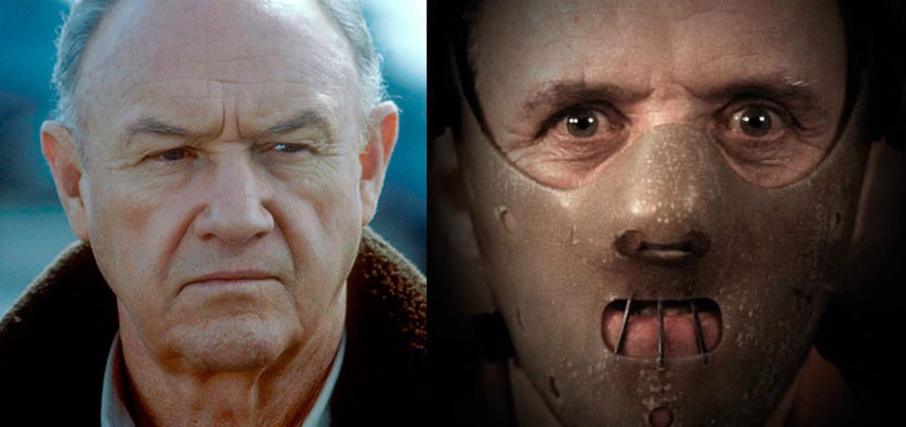 Collage Gene Hackman quiso ser Hannibal Lecter