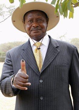 presidente de Uganda, Yoweri Museveni