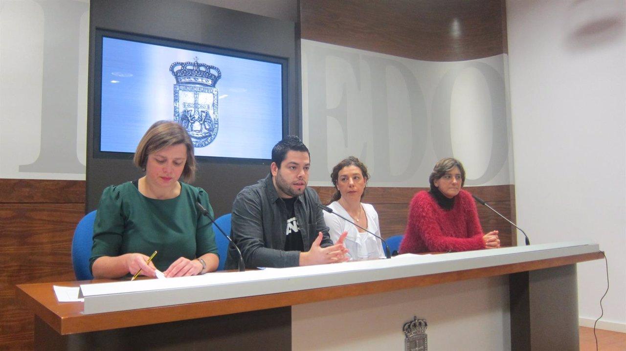 Por la izquierda, Taboada, Rosón, Pontón y Rivas.