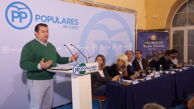 El presidente provincial del PP de Cádiz, Antonio Sanz