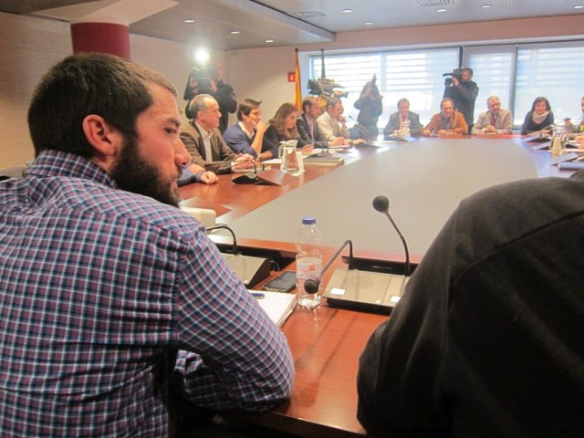 El portavoz del comité de huelga de los trabajadores del Metro, Óscar Sánchez