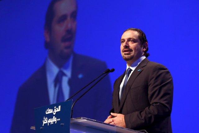 El exprimer ministro de Líbano y líder de Al Mustaqbal, Saad Hariri