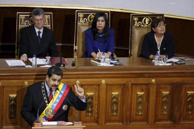 Nicolás Maduro en la Asamblea Nacional
