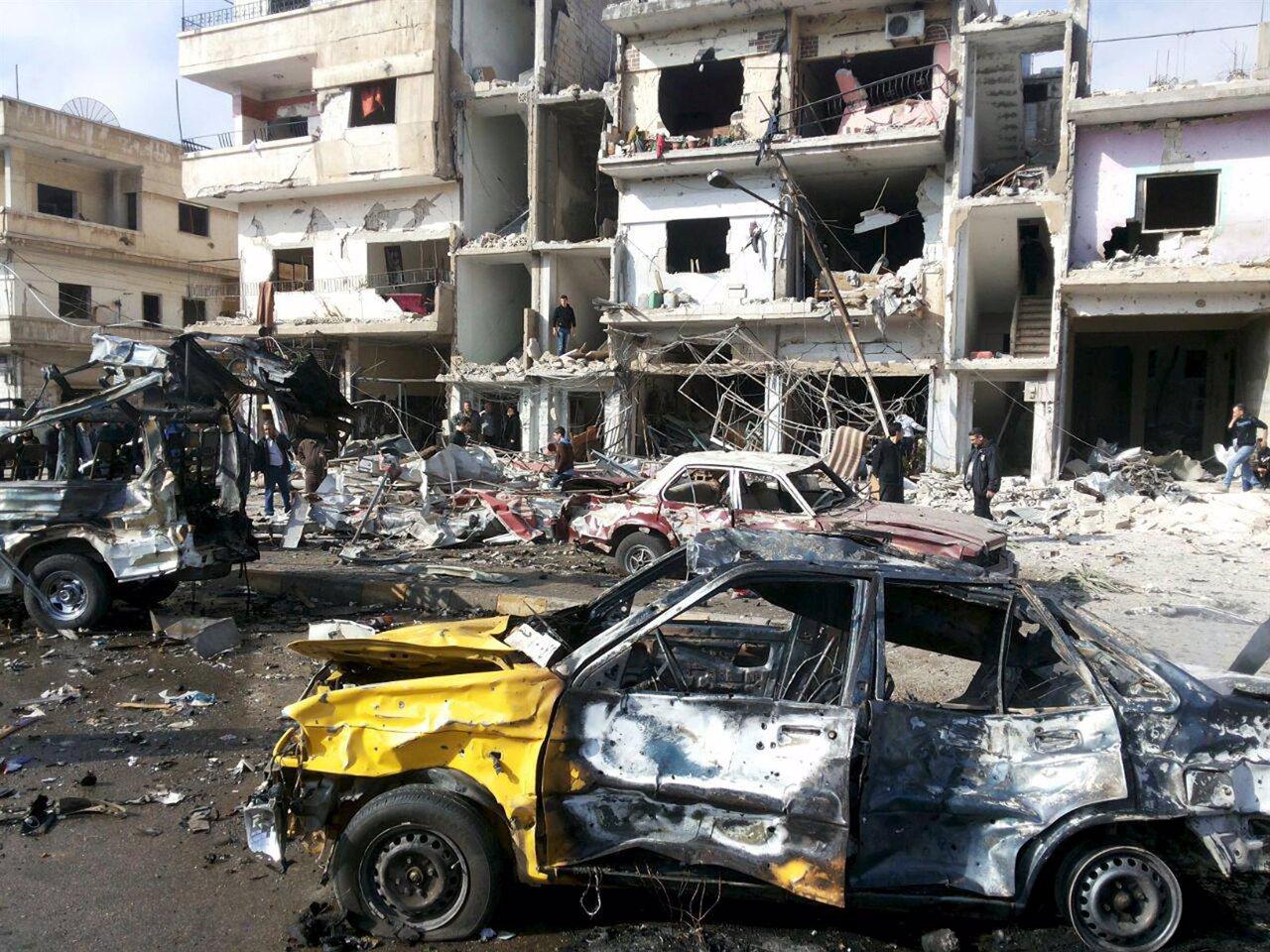 Dos atentados con coches bomba en Homs, Siria, dejan al menos 46 muertos y 110 h