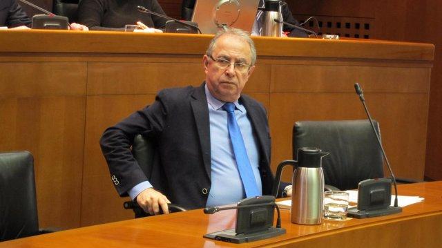 Fernando Gimeno en las Cortes de Aragón