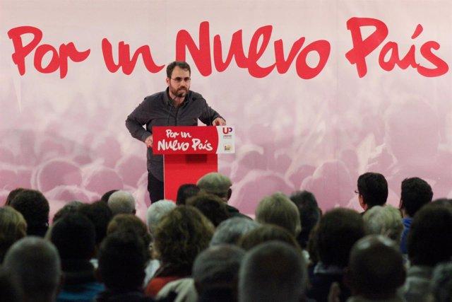 Toni Valero, en el cierre de campaña