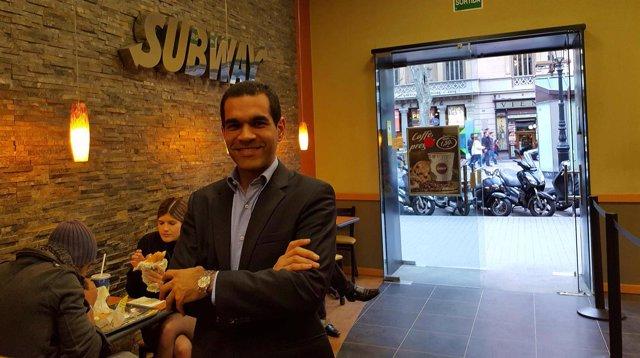 El responsable de Desarrollo de Subway para Catalunya y Andorra, Carlos Ávila