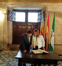 Puig y Díaz en el Palau de la Generalitat