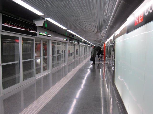 Estación de la L9 del Metro de Barcelona