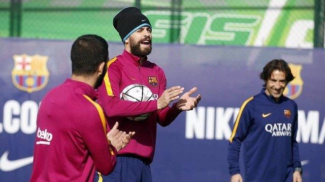 Gerard Piqué entrenamiento Barcelona
