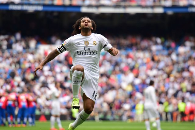 Marcelo partido Real Madrid- Levante Union Deportiva 2015