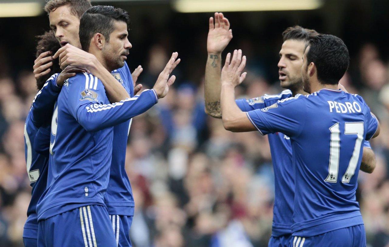 Diego Costa, Cesc y Pedro con el Chelsea