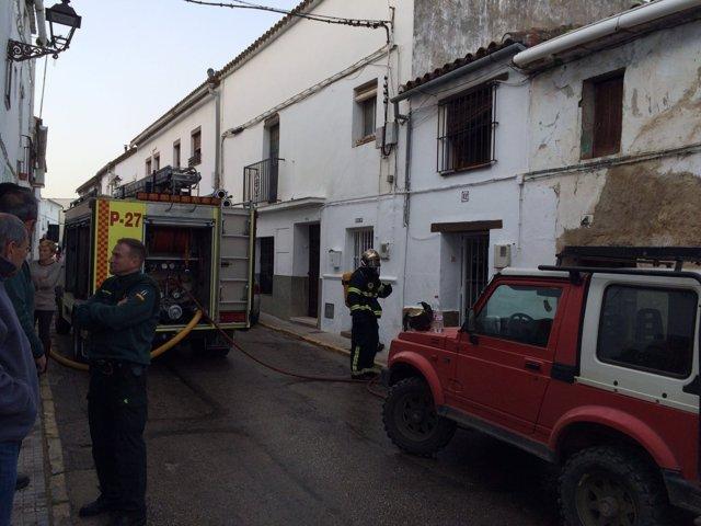 Incendio en una vivienda de Jimena (Cádiz)