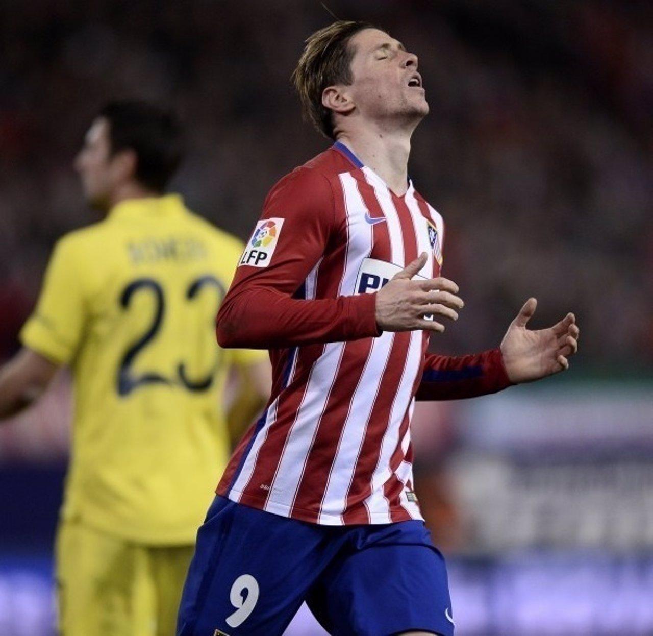 Fernando Torres se lamenta en un Atlético de Madrid-Villarreal