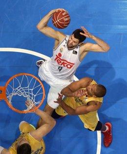 Felipe Reyes en la final de la Copa del Rey de ACB de A Coruña