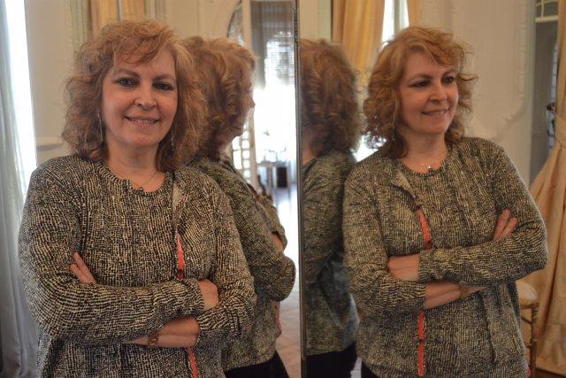 Maria Carme Roca en la presentación de su última novela 'A punt d'Estrena'