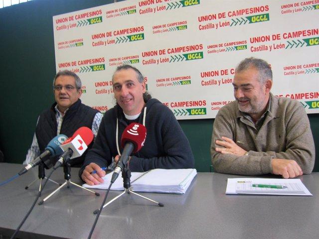 González Palacin (centro) hace balance de 2015.
