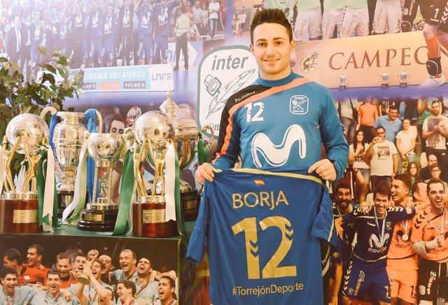Borja Díaz, jugador del Movistar Inter