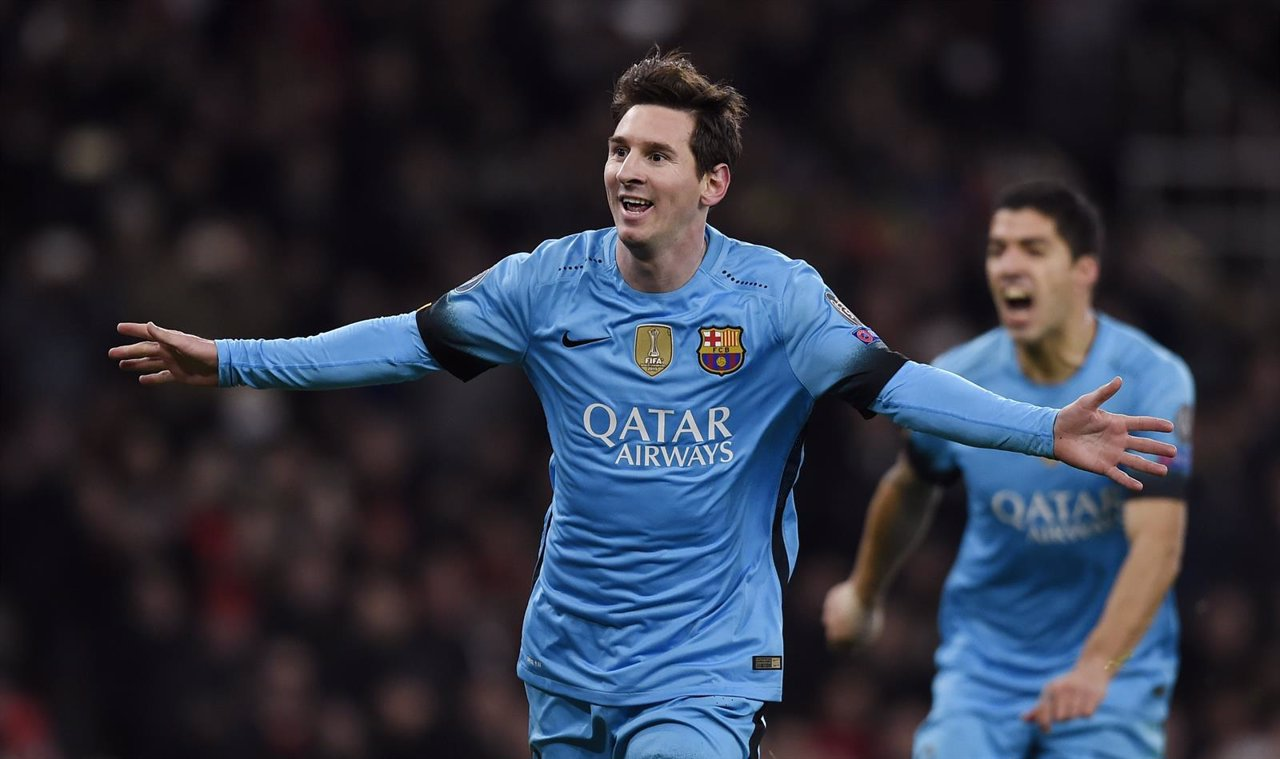 Lionel Messi en el Emirates de Londres