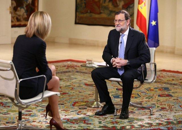 Mariano Rajoy, entrevista con Susana Griso en Moncloa