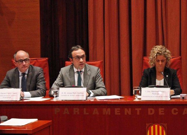 El conseller de Territorio y Sostenibilidad de la Generalitat, Josep Rull