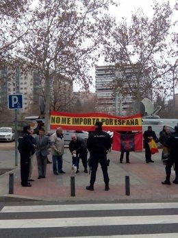 Ultras apoyando a los detenidos de Blanquerna