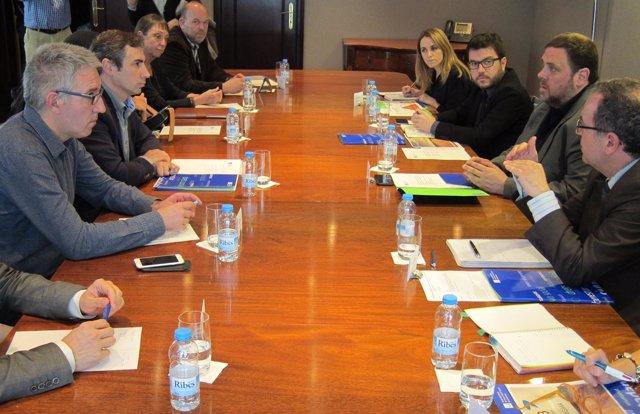 Reunión del vicepresidente O.Junqueras con la Taula del Tercer Sector